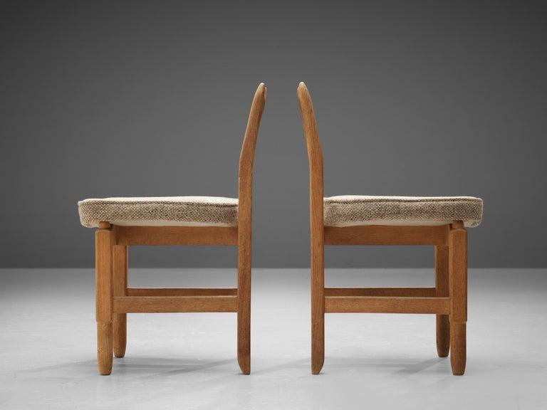Guillerme et Chambron 'Lorraine' Chairs in Oak For Sale 2
