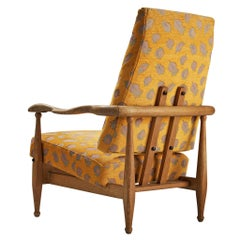 Guillerme et Chambron Lounge Chair 'Air France' in Oak