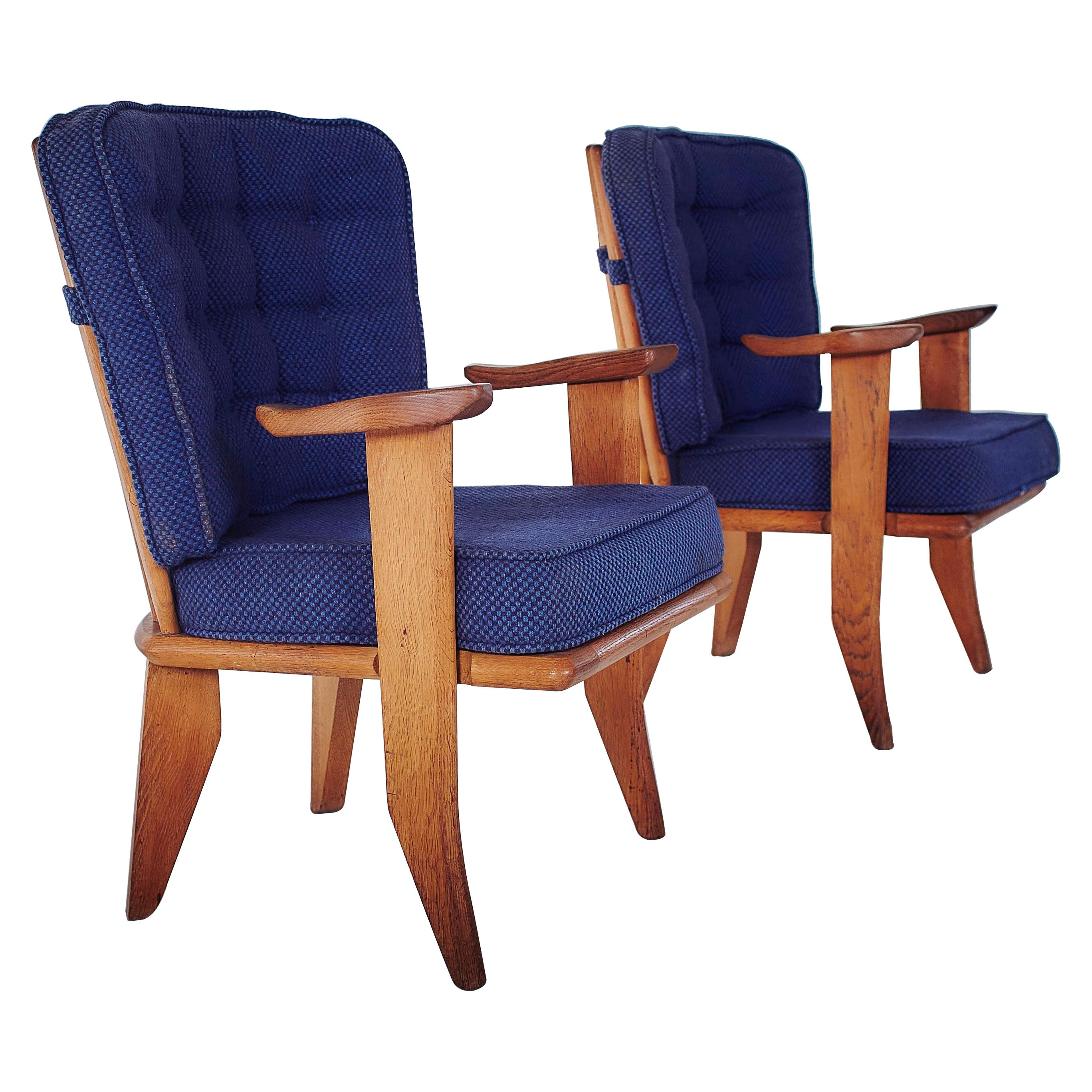 Guillerme et Chambron, Lounge Chairs, 1960s, Edited by Votre Maison