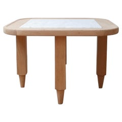 Guillerme et Chambron Marble and Oak Side Tables '2'