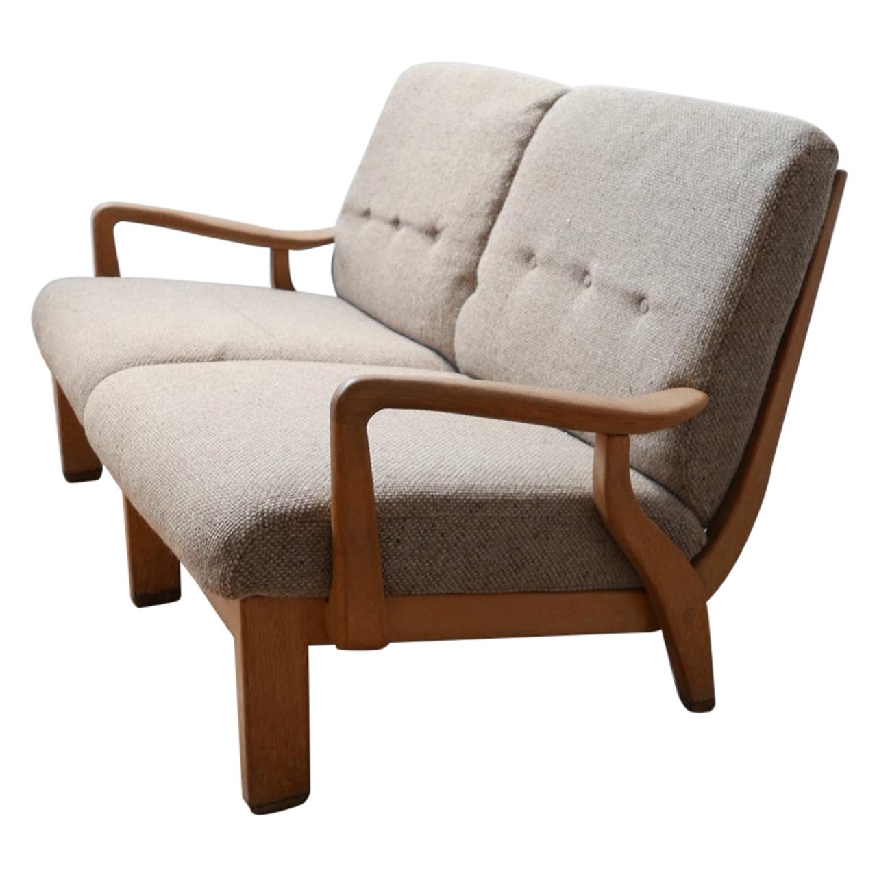 Guillerme et Chambron Mid-Century French Sofa