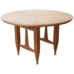 Guillerme et Chambron Midcentury Oak Dining Table