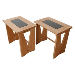 Guillerme et Chambron Midcentury Oak Side Tables