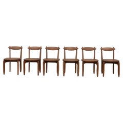 Guillerme et Chambron Mid-Century 'Thierry' Dining Chairs '6'