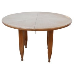 Guillerme et Chambron Oak Circular Extendable Dining Table