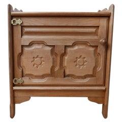 Guillerme et Chambron Oak Midcentury Cabinet
