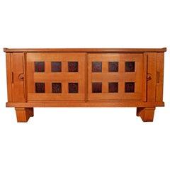 Guillerme et Chambron, Oak Sideboard Edition Votre Maison, circa 1950-1960