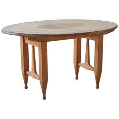 Guillerme et Chambron, Oak Table, circa 1960