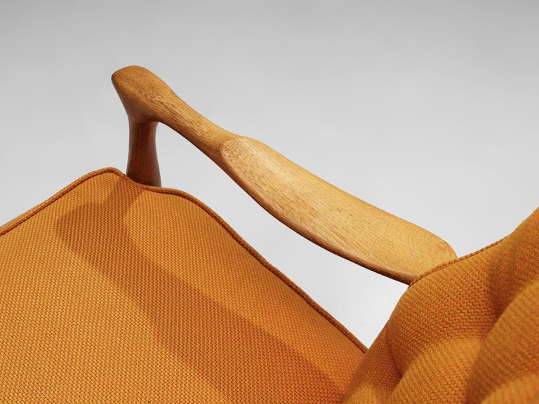 Guillerme et Chambron Pair of Lounge Chairs with Yellow Upholstery 3