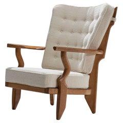 "Guillerme et Chambron ""Petit Repos"" Lounge Chair, France, 1950s"