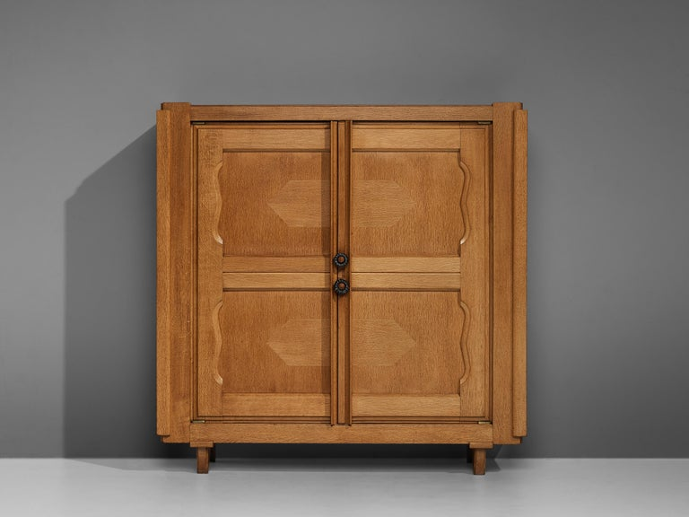 French Guillerme et Chambron 'Raphael' Cabinet in Oak For Sale
