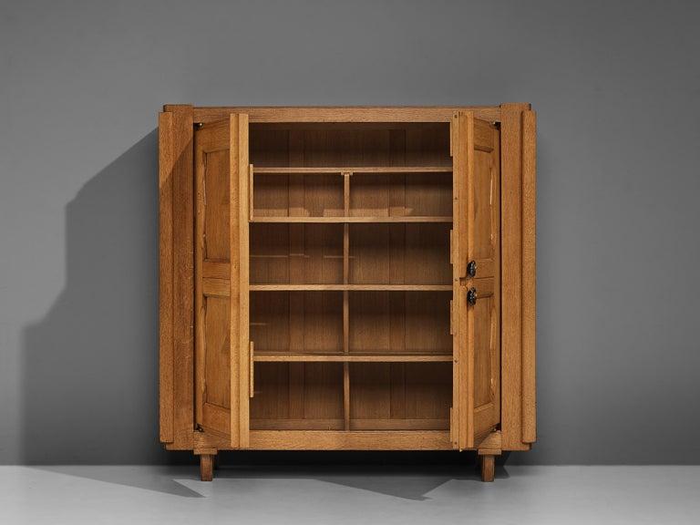 Mid-20th Century Guillerme et Chambron 'Raphael' Cabinet in Oak For Sale
