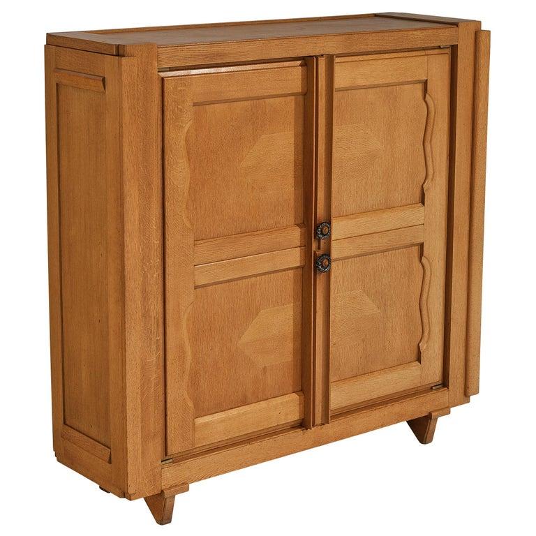 Guillerme et Chambron 'Raphael' Cabinet in Oak For Sale