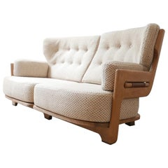 Guillerme et Chambron Rare Midcentury French Sofa