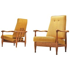 Guillerme et Chambron Rare Set of Air France Armchairs