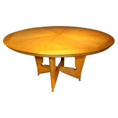 """Guillerme et Chambron, Rare Table Model """"Victorine"""" in Oak, circa 1960"""