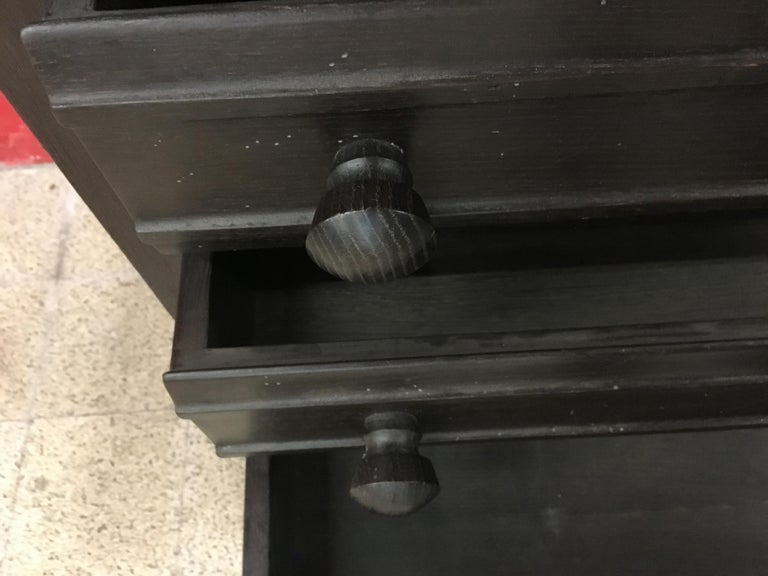 Guillerme et Chambron, Secretaire in Blackened Oak, circa 1970 In Good Condition For Sale In Saint-Ouen, FR