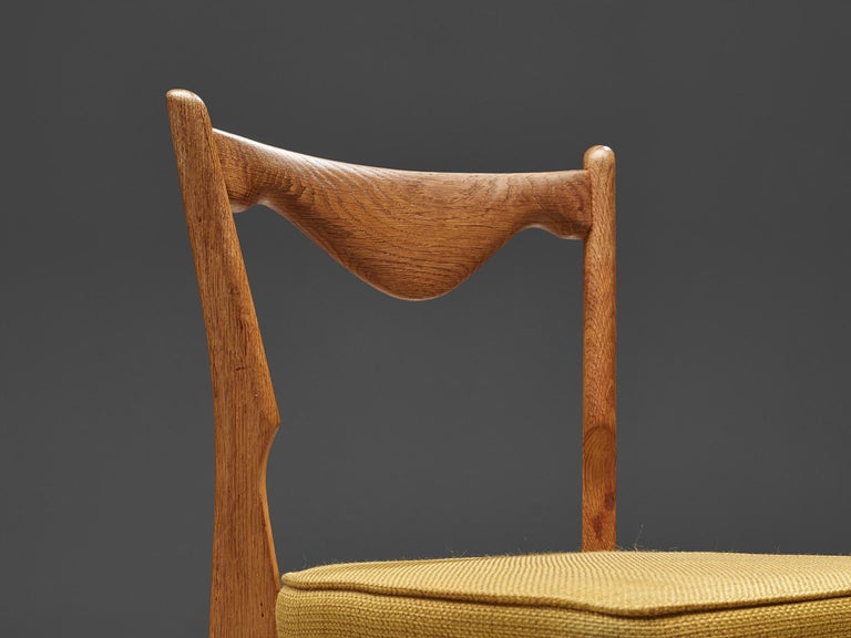 Guillerme et Chambron Set of Dining Chairs in Solid Oak For Sale 2