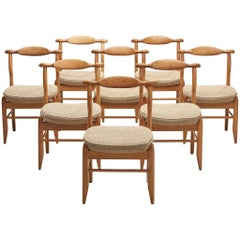 Guillerme et Chambron Set of Eight Dining Chairs