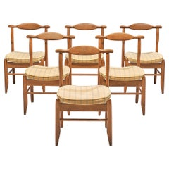 Guillerme et Chambron Set of Six Dining Chairs