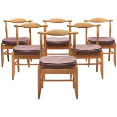 Guillerme et Chambron Set of Six 'Fumay' Chairs