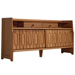 Guillerme et Chambron Sideboard in Oak and Ceramics