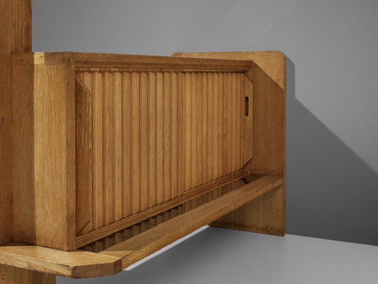 Mid-20th Century Guillerme et Chambron Sideboard with Lamp For Sale