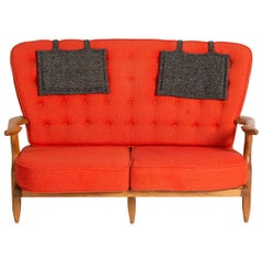 Guillerme et Chambron, Sofa, France, Mid-20th Century