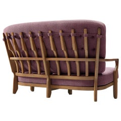 Guillerme et Chambron Sofa 'Juliette' in Oak
