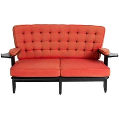 Guillerme et Chambron, Sofa with Winged Arms, France, circa 1960