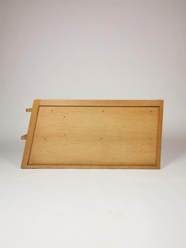 Guillerme et Chambron, Solid Oak Shelf, France 1960s For Sale 5
