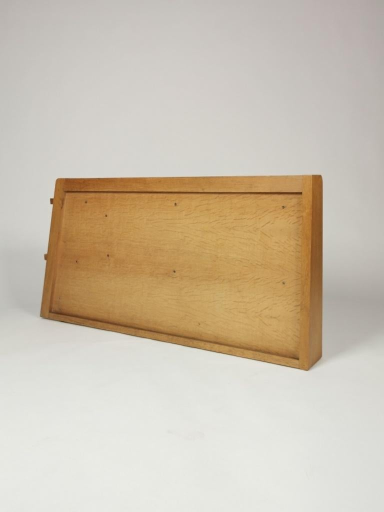 Guillerme et Chambron, Solid Oak Shelf, France 1960s For Sale 6