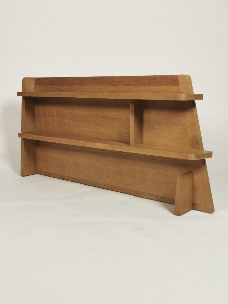 Guillerme et Chambron, Solid Oak Shelf, France 1960s In Good Condition For Sale In , DE