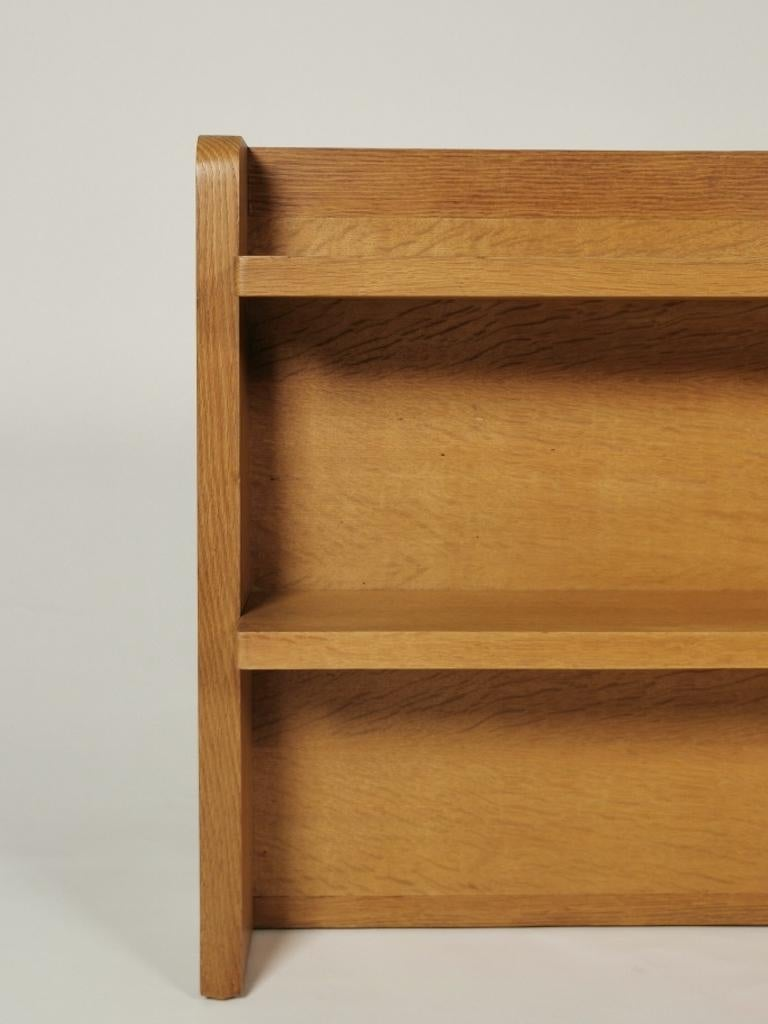 Guillerme et Chambron, Solid Oak Shelf, France 1960s For Sale 1