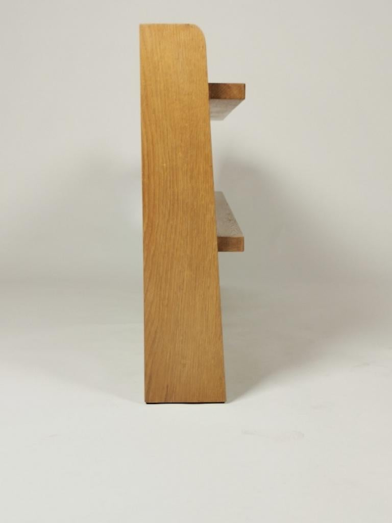 Guillerme et Chambron, Solid Oak Shelf, France 1960s For Sale 3