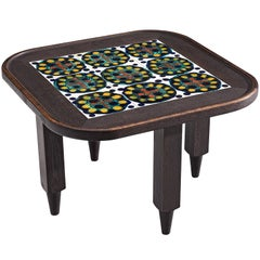 Guillerme et Chambron Square Coffee Table with Ceramics