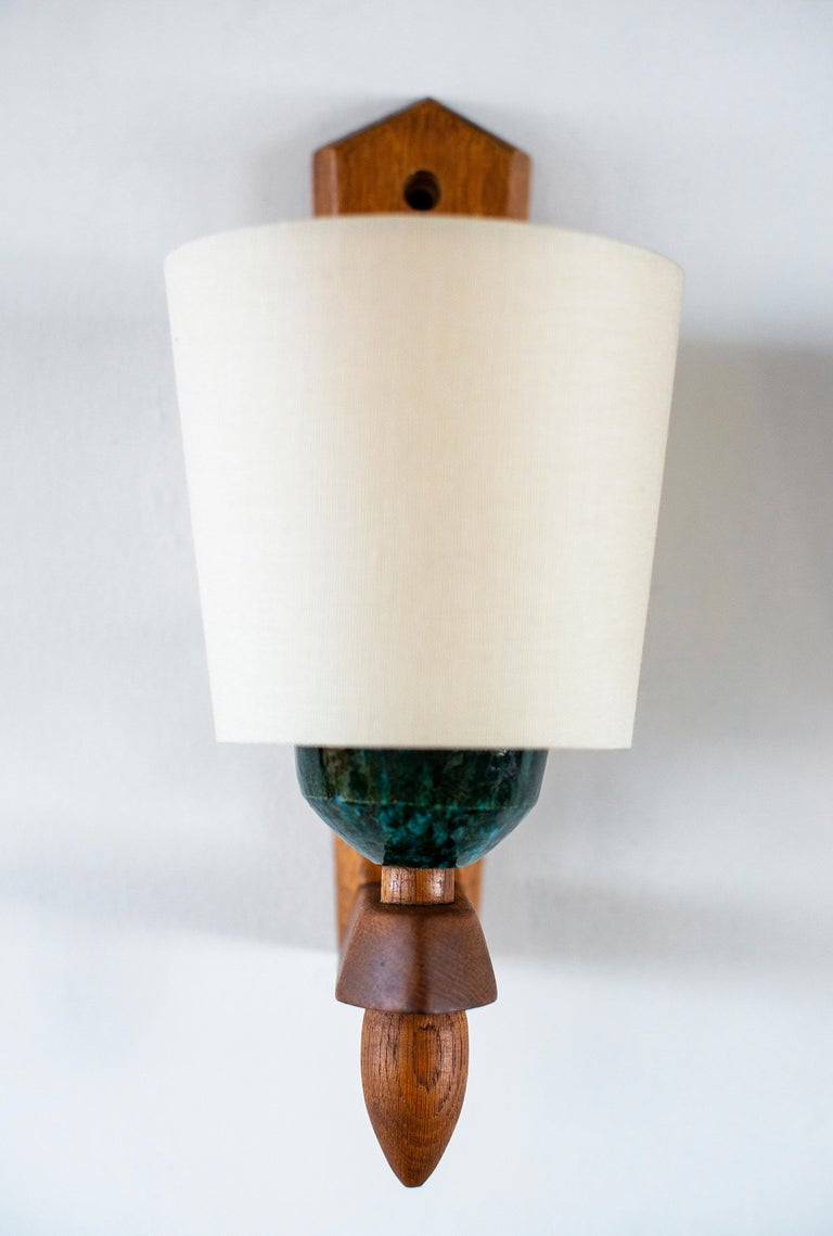 Guillerme et Chambron Wood Sconces In Excellent Condition For Sale In Los Angeles, CA
