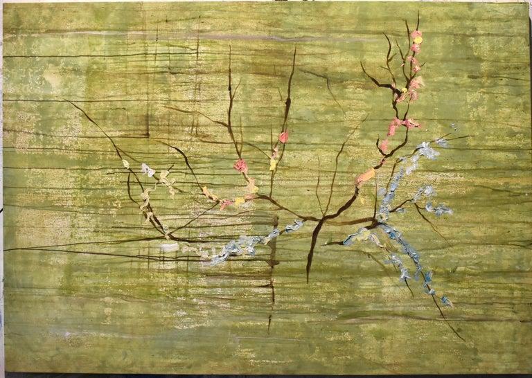 """""""Almendro en Flor"""", Canvas - Painting by Guillermo Conte"""