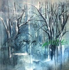 Bosque Azul, Canvas, Oil paint