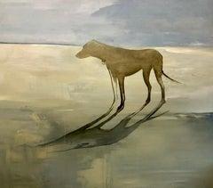 Perro en Playa Grande, Canvas, Oil paint