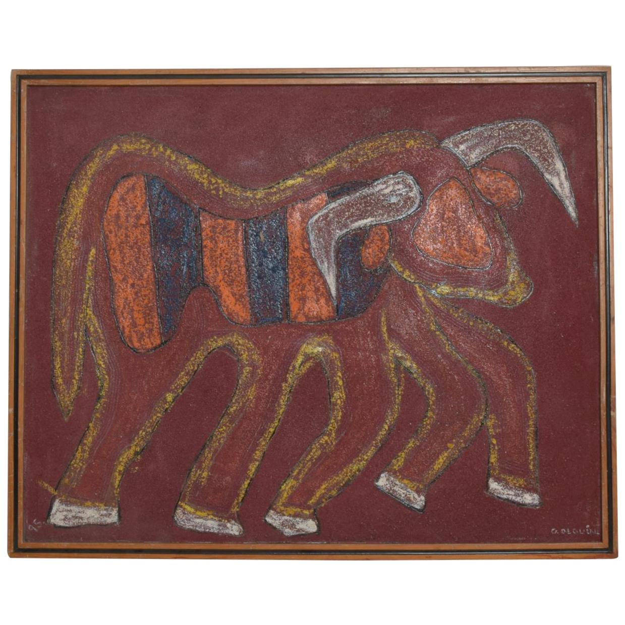 Guillermo Olguin Painting Toro De Carnaval Modern Art Painting