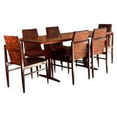 Guiseppe Scapinelli Jacaranda Rosewood Patchwork Dining Table & Chairs, 1950s
