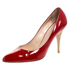 Guiseppe Zannotti Red Patent Leather Pumps Size 39.5