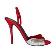 Guiseppe Zanotti Alien 115MM Red/Crystal Heels (39 EU)