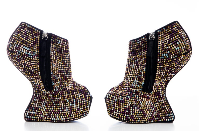 Guiseppe Zanotti Crystal Embellished Wedges, Fall 2012 For Sale 5