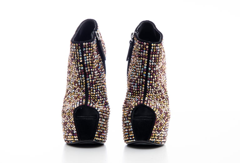 Guiseppe Zanotti Crystal Embellished Wedges, Fall 2012 For Sale 6