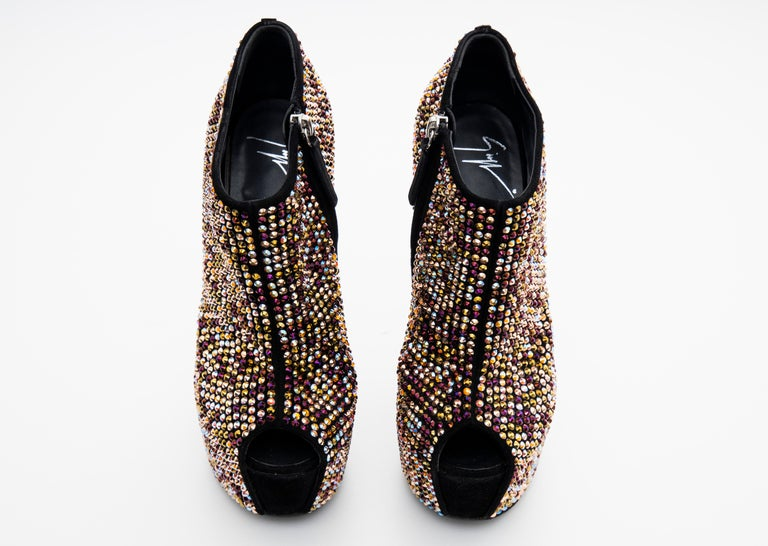 Guiseppe Zanotti Crystal Embellished Wedges, Fall 2012 For Sale 7