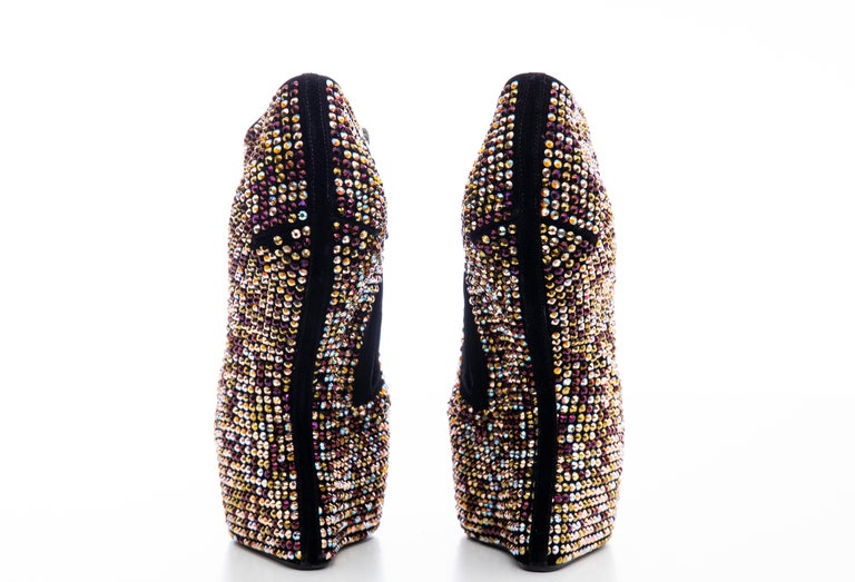 Guiseppe Zanotti Crystal Embellished Wedges, Fall 2012 For Sale 8