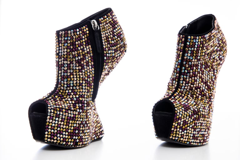 Guiseppe Zanotti Crystal Embellished Wedges, Fall 2012 For Sale 10