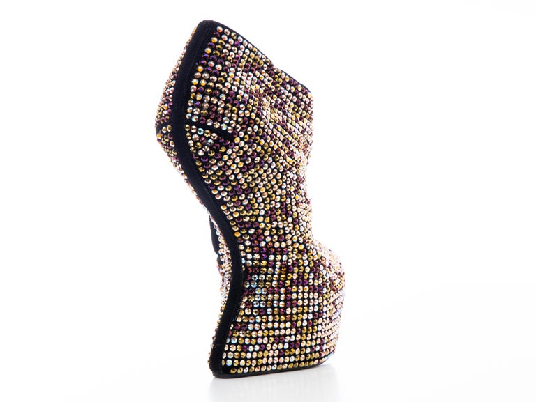 Guiseppe Zanotti Crystal Embellished Wedges, Fall 2012 In Excellent Condition For Sale In Cincinnati, OH